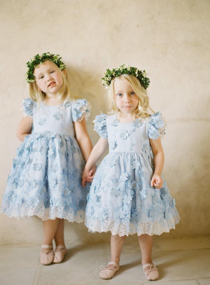 07f749b919a Sweet pale blue flower girl dresses