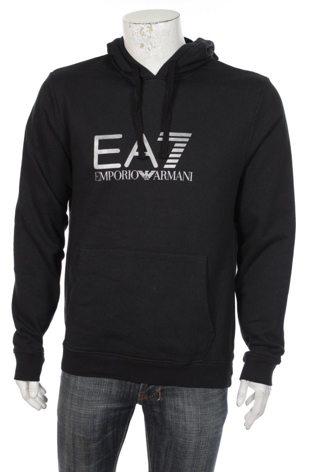 a0371c71cd Emporio Armani EA7 Men's Big Logo Pullover Hooded Sweatshirt Hoodie Hoody