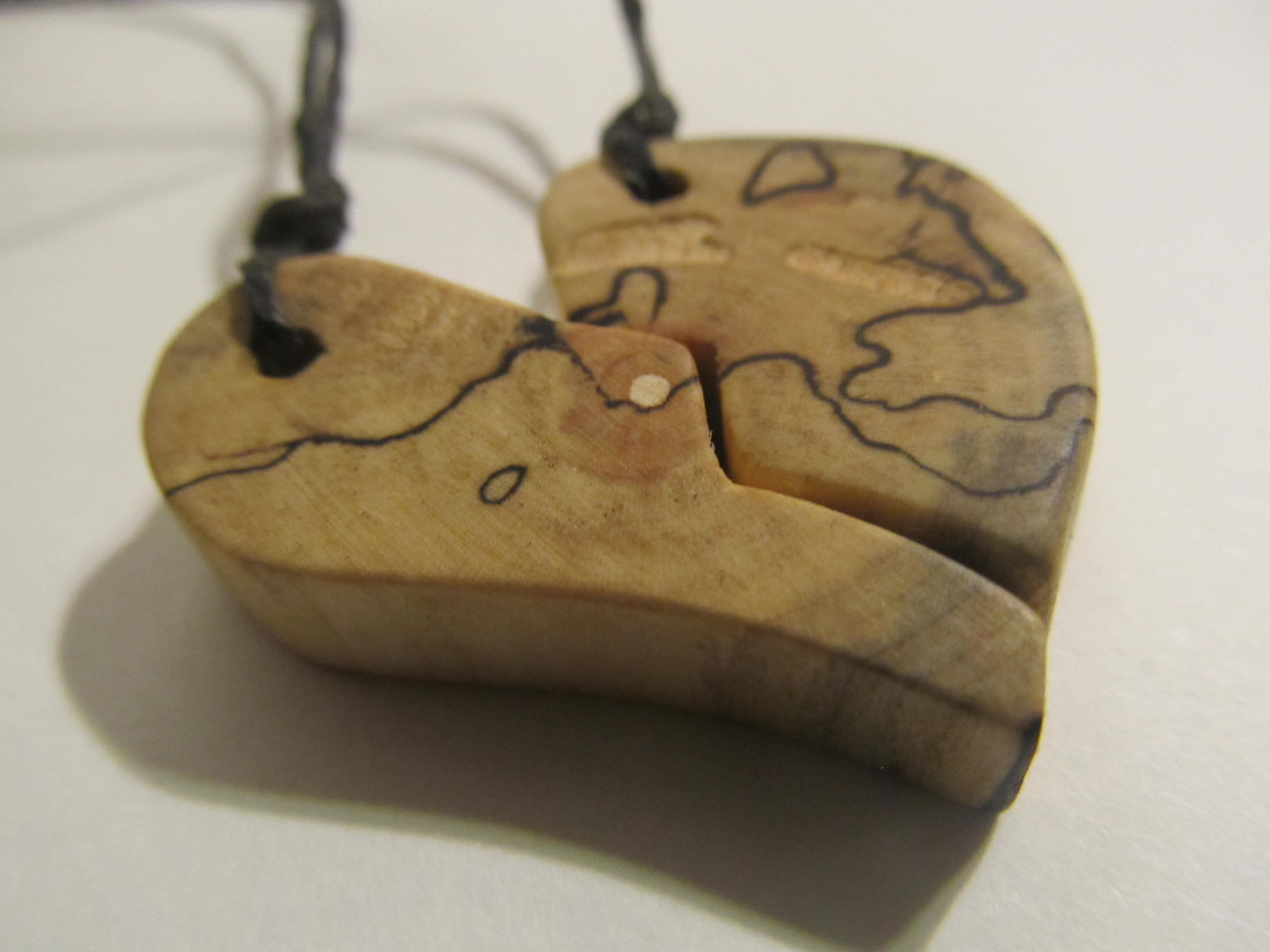 d3f0b87ff2 2 BFF Necklaces, Heartbreak, Heart Pendant, Half Heart, Best Friends  Forever, Puzzle Pieces, Wooden Pieces Jewelry, Woodenist, FREE Shipping on  Storenvy
