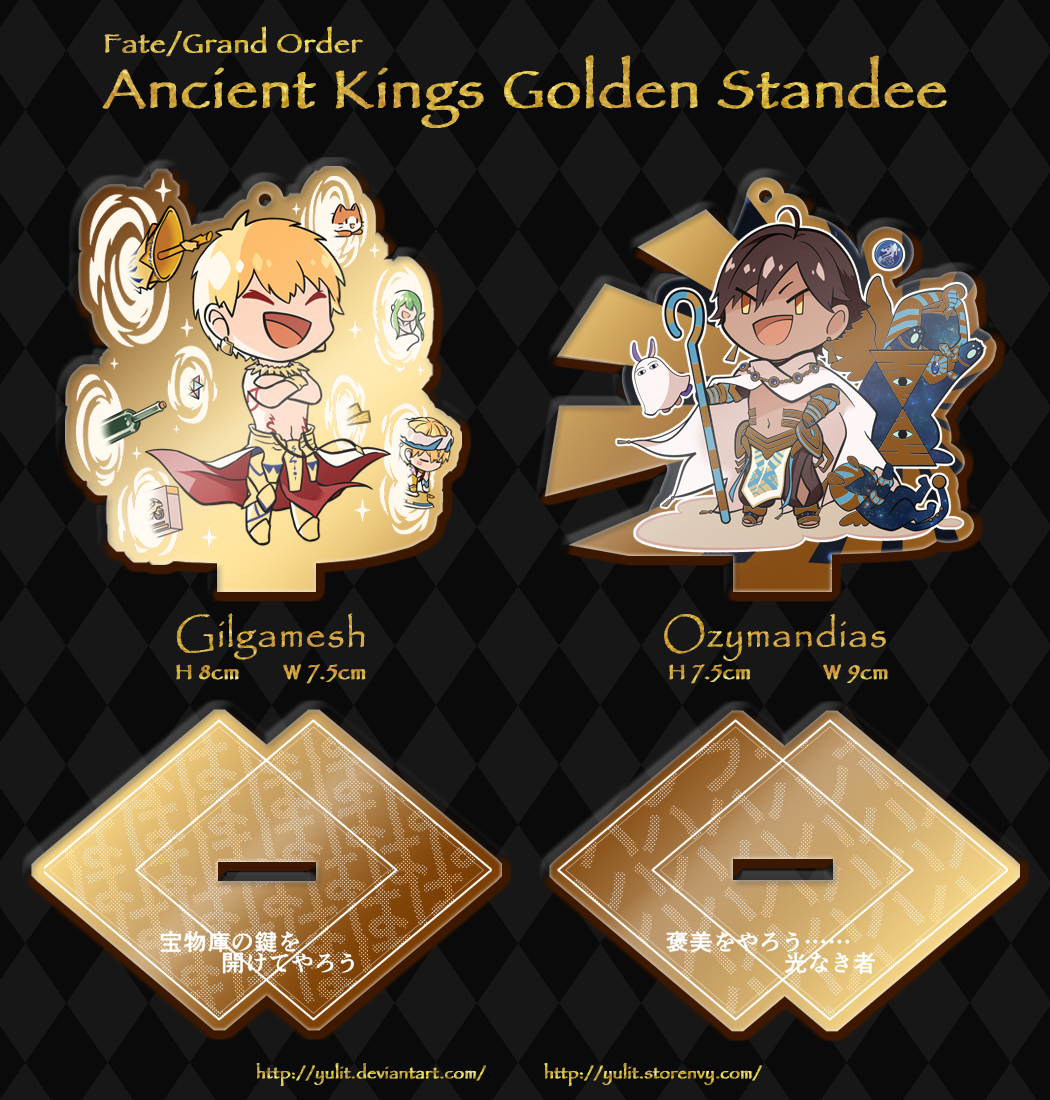 Fate/Grand Order - Ancient Kings Golden Standee from Yulit