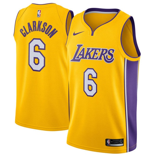 Nike Lakers  6 Jordan Clarkson Gold NBA Swingman Icon Edition Jersey ... 46e34449d