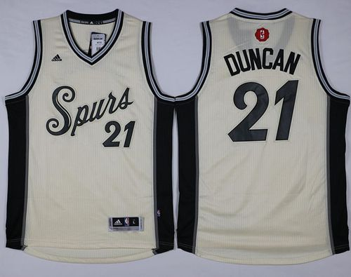 super popular 22b96 22592 Spurs #21 Tim Duncan Cream 2015-2016 Christmas Day Stitched NBA Jersey sold  by NBAJerseysales1