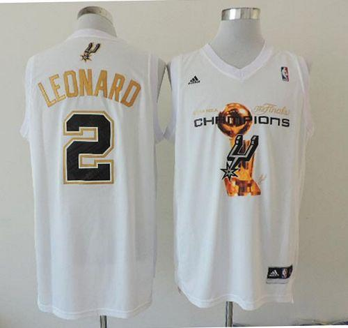 reputable site 3442e 44d8b Spurs #2 Kawhi Leonard White 2014 NBA Finals Champions Stitched NBA Jersey  sold by NBAJerseysales1