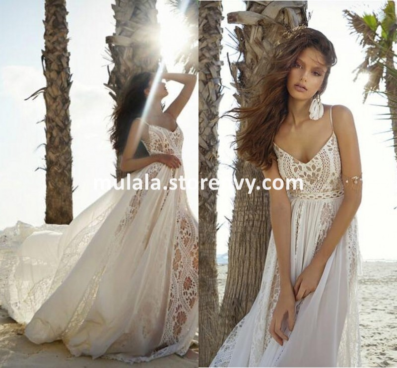 Vintage Lace Boho Wedding Dresses Summer Beach Spaghetti Straps Backless Wedding Party Gowns Long Tulle Brides Dress Mulala Online Store Powered By Storenvy,Wedding Dress From Dhgate Review