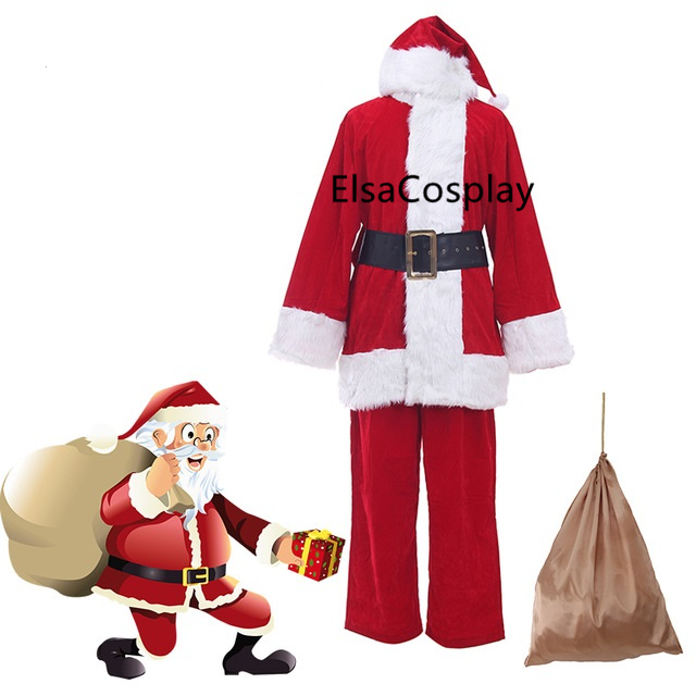 Custom Luxury Santa Claus Cosplay Costume Full Set Of Santa Claus Christmas Clothes From Elsacosplay