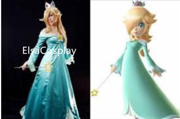 Custom Princess Rosalina Costume Rosalina Dress costume Halloween costume  sold by Elsacosplay