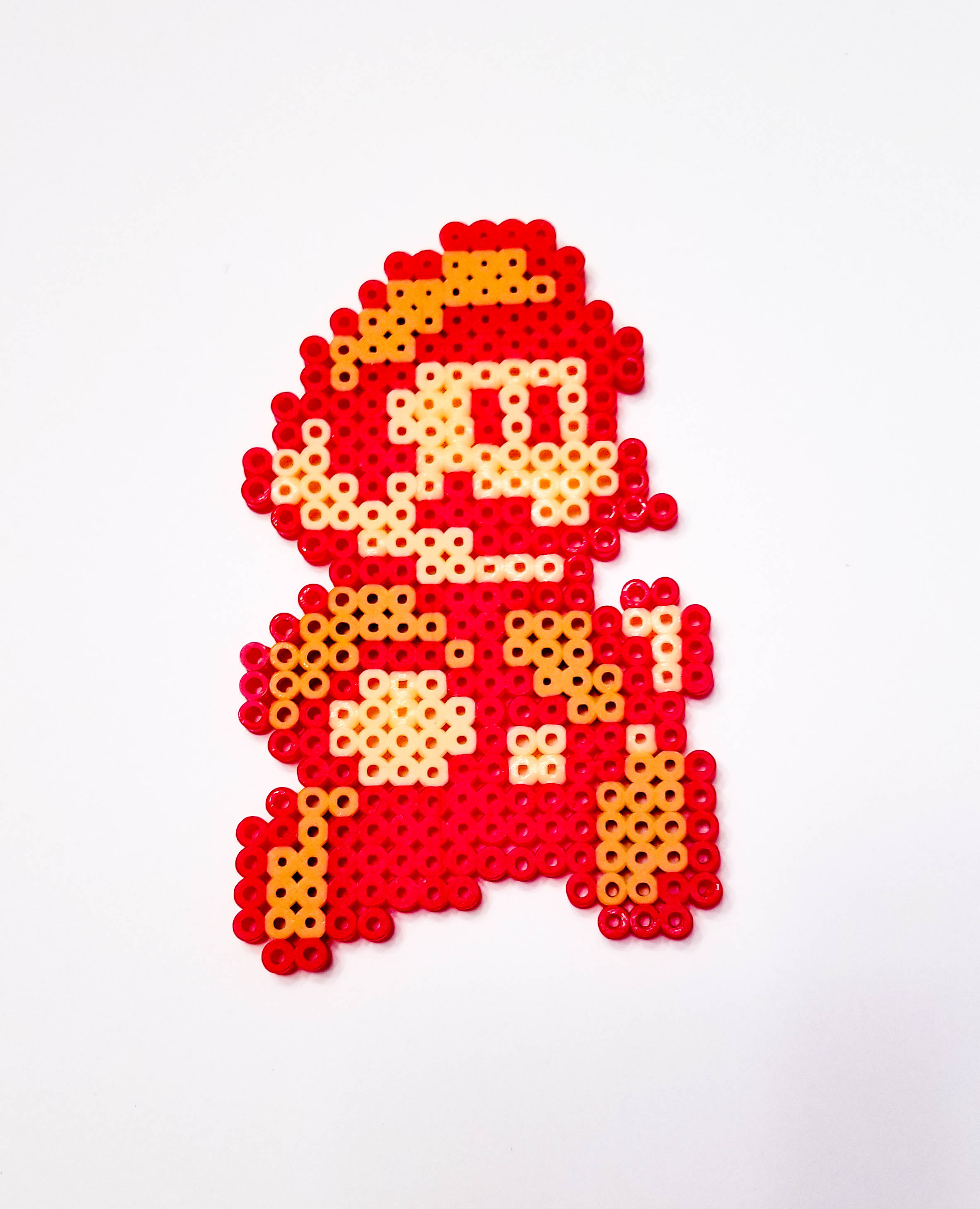 Red Jumping Mario V2 Bead Sprite Pixel Art Piece A Little
