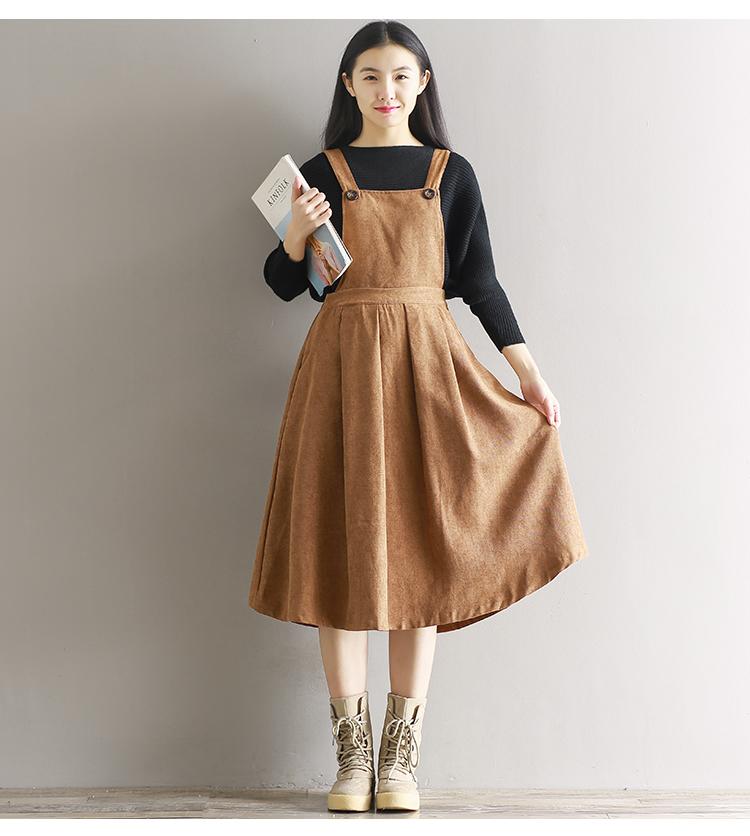 a810d183000 Cute Vintage Retro Style Sleeveless Long Corduroy Dress on Storenvy