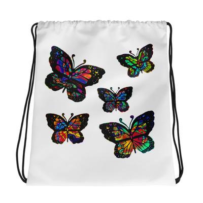 36391fbff4 Heavenly Rainbow Flower Drawstring Bag · Midnight Rain s Designs ...