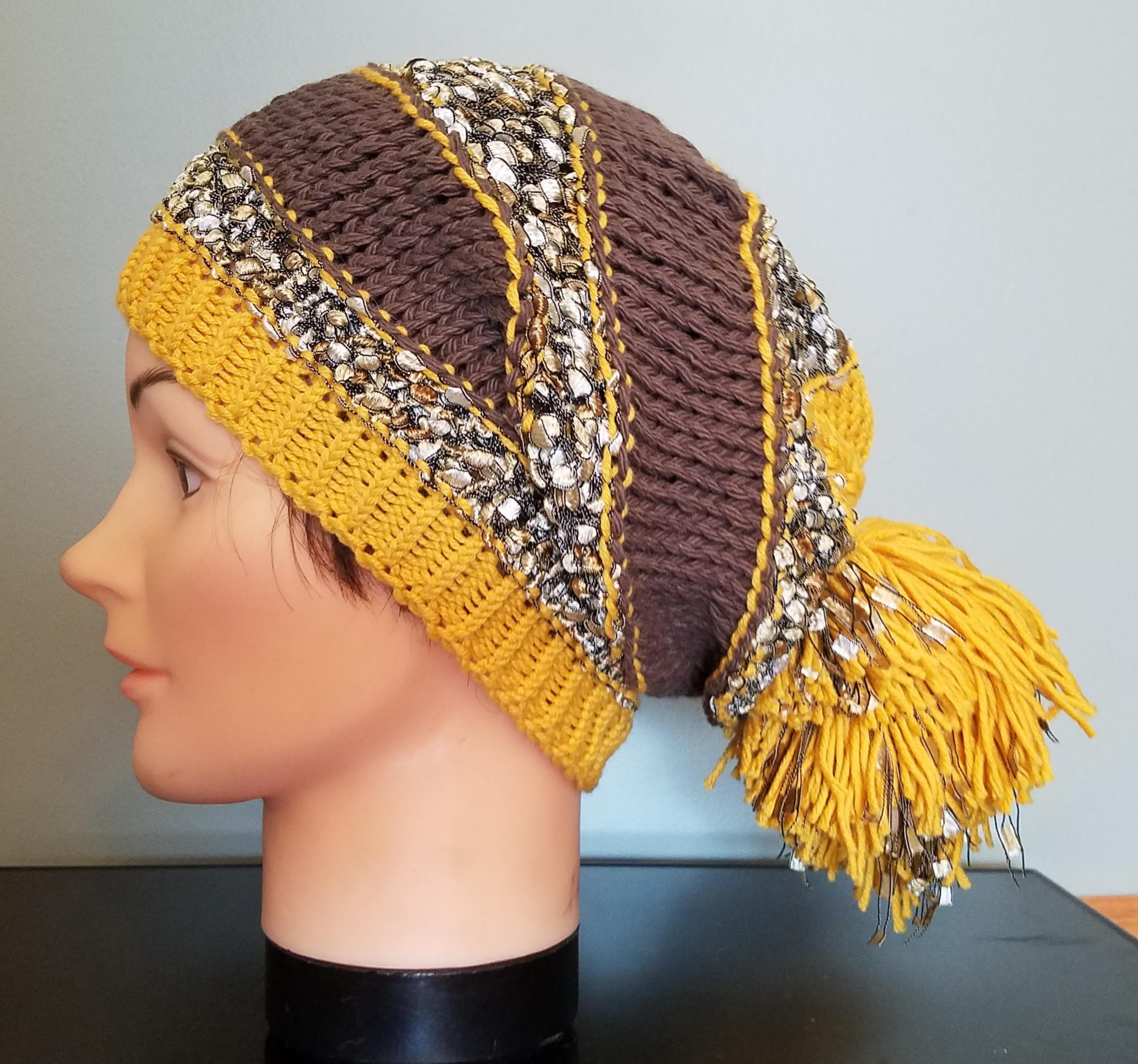 77a17d9772865 Honey Lace Slouch Beanie on Storenvy