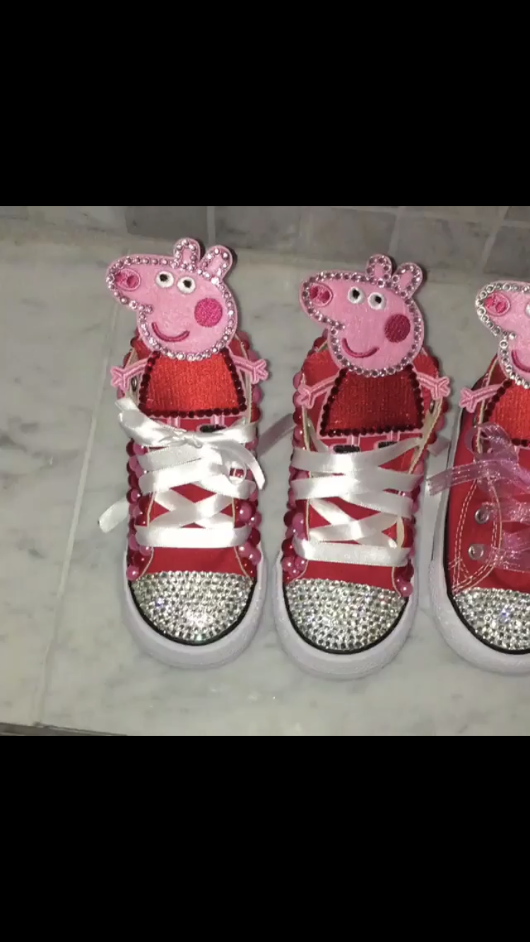 ... Custom Character Converse with bling toe and pearl sides - Thumbnail ... cc34d52004