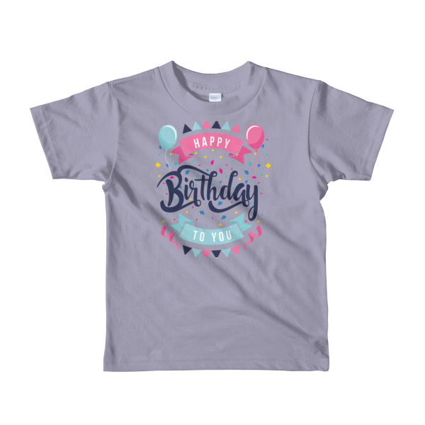 Funny Happy Birthday T Shirt 1 Short Sleeve Kids