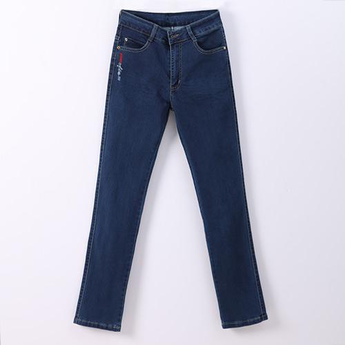 a7b02bff5809a Jeans Plus size High Waist Skinny Feminino Classic Women s Jeans Full Long  length Spring Summer Slim