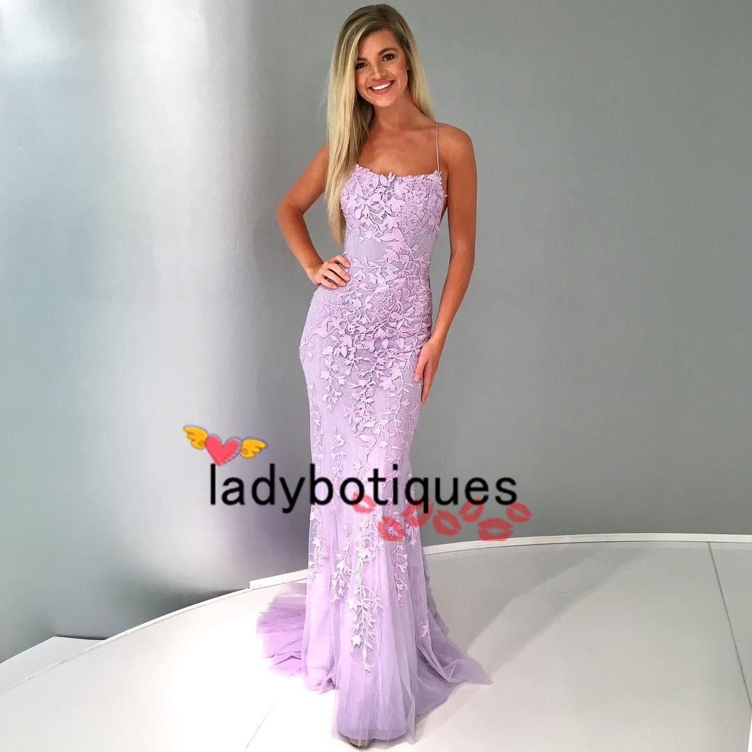 Gorgeous Spaghetti Straps Lavender Long Prom Dress on Storenvy 7a0fdf5d7