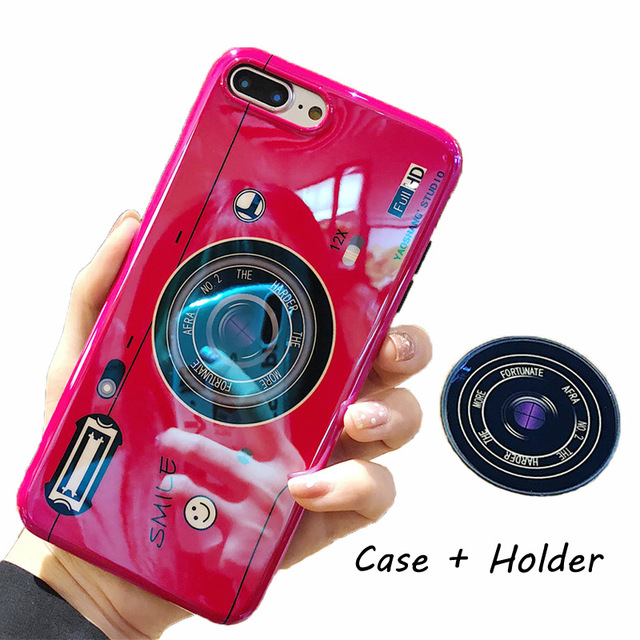 ed55fe60fc Red Kickstand Phone Case For iPhone 6S 6 7 8 X XS Max Plus 10 Case Silicone  Cute Camera Stand Holder Cover For iPhone 6 S 6Plus Case on Storenvy