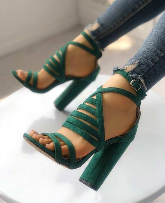 196b28886e Charming Strappy Open Toe Stiletto Sandals Hot High Shoes Cheap Prom Shoes  M5740 on Storenvy