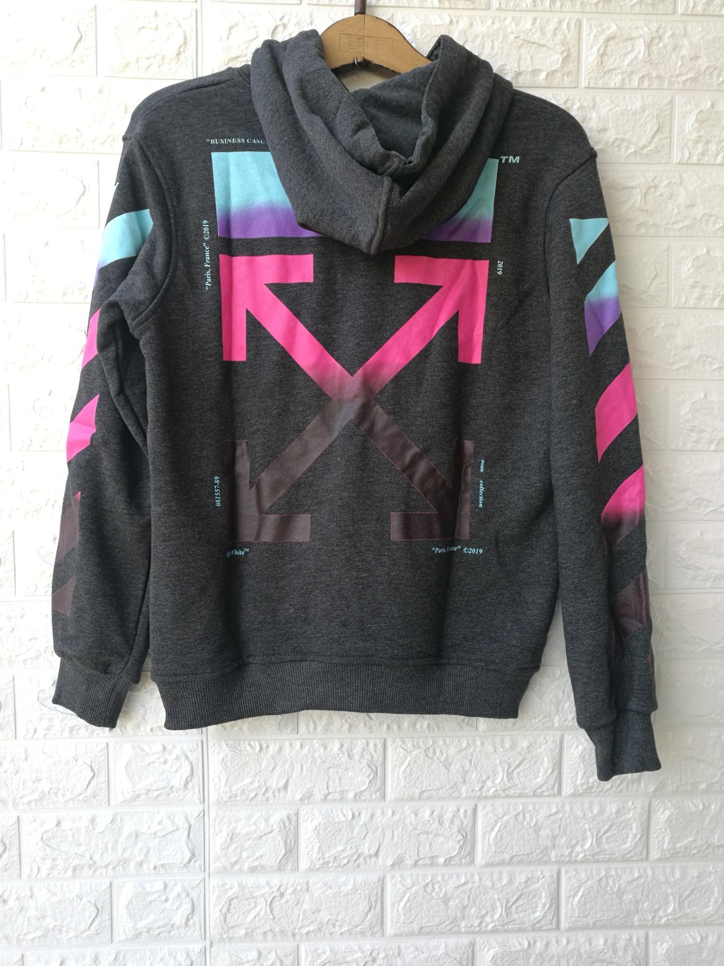 0a7c4ef245ee OFF WHITE Men s Dark Gray Gradient Arrows Sweatshirt Hoodie ...