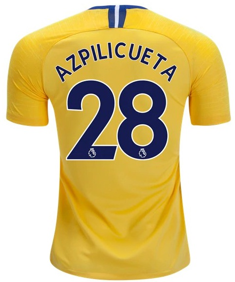sale retailer 4c321 1ed69 Azpilicueta #28 Chelsea FC Away Soccer Jersey 18/19 Stadium Football Shirt  Yellow sold by Mexibro