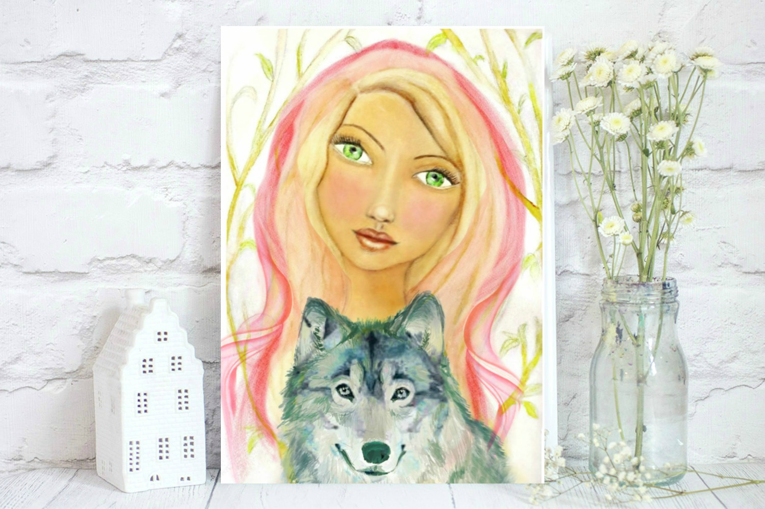cfcf7687b Watercolor of Little Red Riding Hood · Lucy in the Sky Creations ...