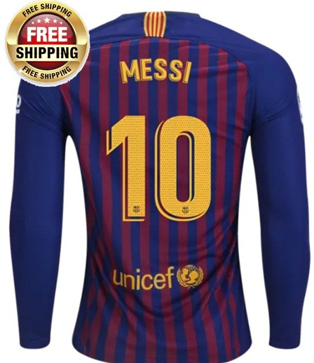 huge discount 26702 9e11b Messi #10 Fc Barcelona Long Sleeve Men 2018- 2019 FCB Jersey Home from  JeisyShop