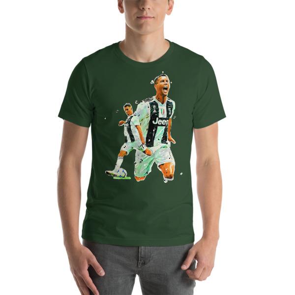cheaper 5c59e bfdae Cristiano Ronaldo, CR7 Juventus Short-Sleeve Unisex T-Shirt from Print  Football