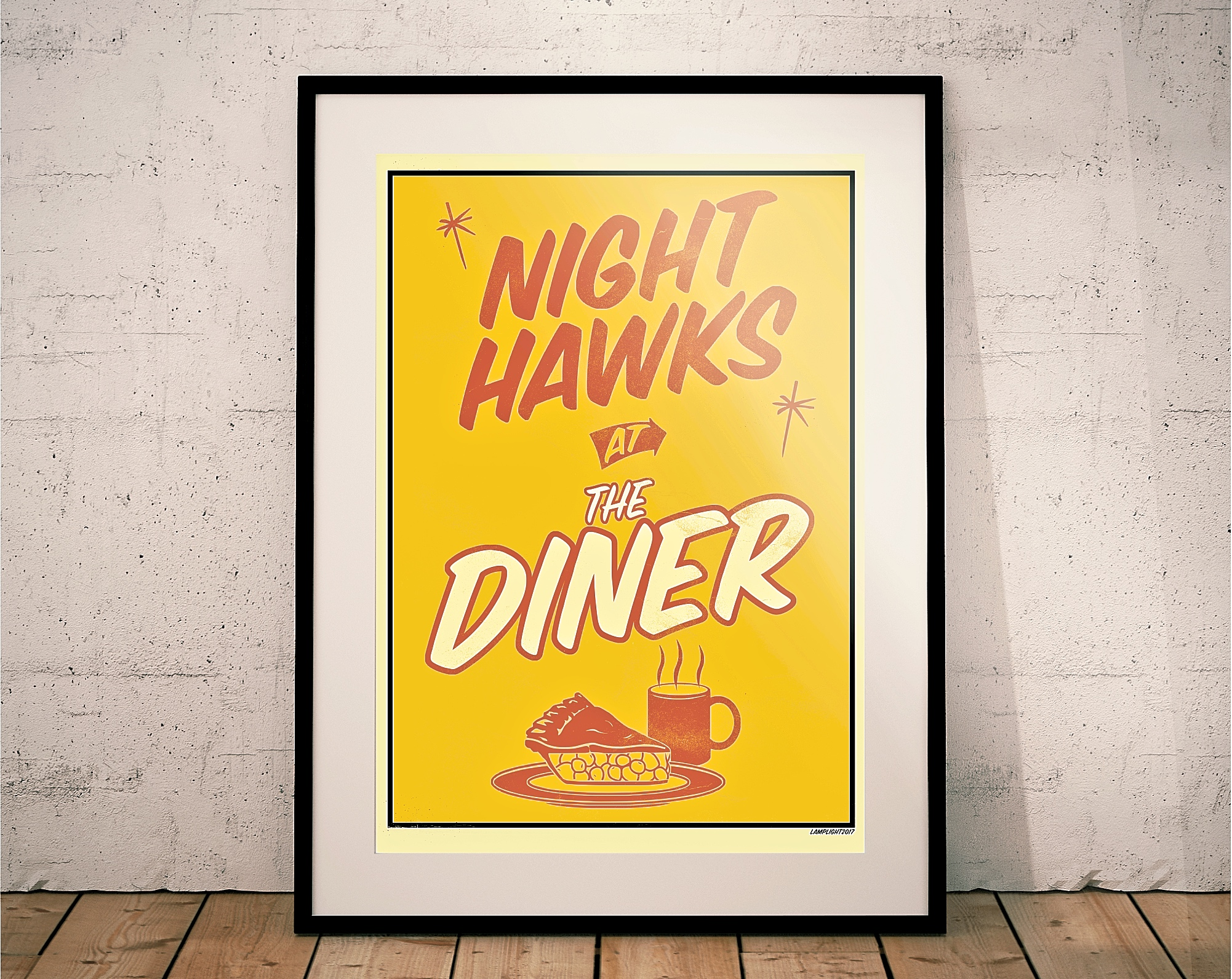 Tom Waits Night Hawks At The Diner Print Poster Edward Hopper Late Night Coffee Lamplight Design Co Online Store Powered By Storenvy