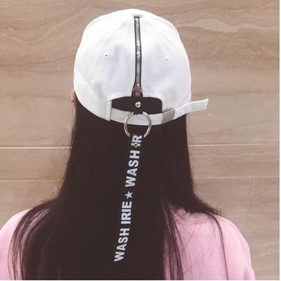 f1137be67cf ... YouGeMan Summer Fashion White Cap Korean Style Ulzzang Harajuku Letter  Embroidery Ribbon Baseball Caps For Women