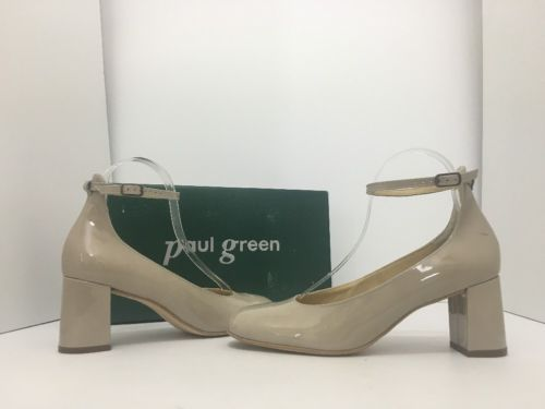 on sale order hot sale online Paul Green Holly Tan Patent Leather Women's High Heels Pumps Size UK 6.5 /  US 9 sold by Fashion Envy