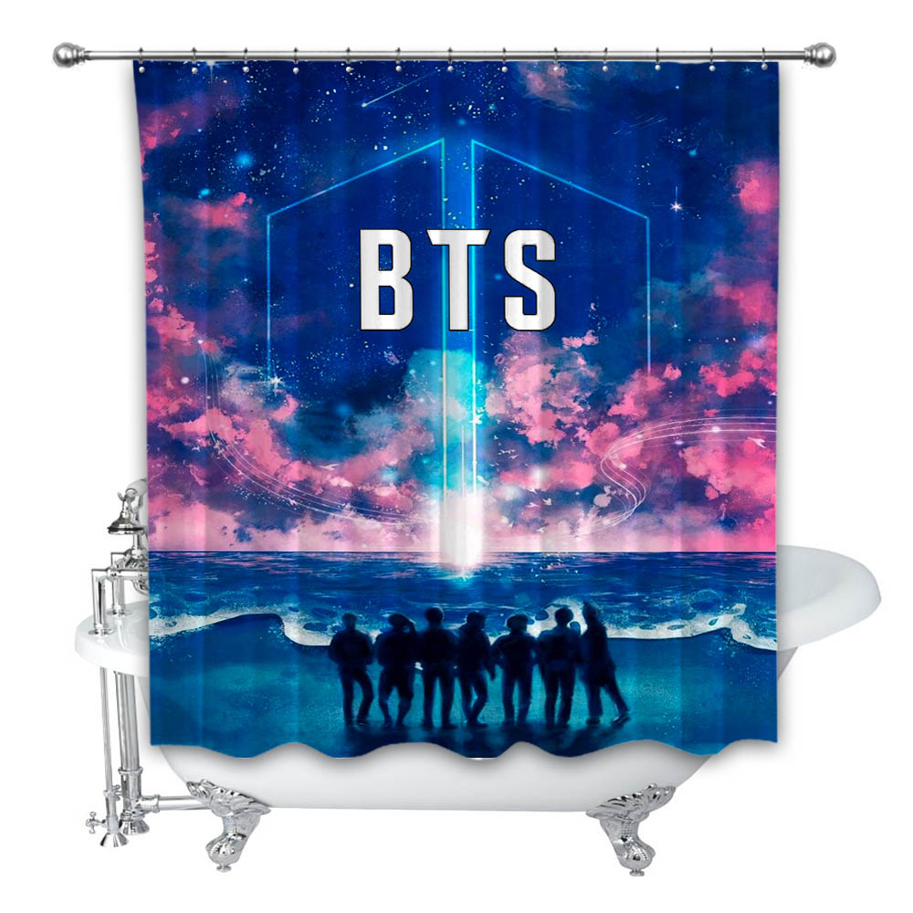 New Best Army Bts Sea Custom Shower Curtain 100 Polyester On Storenvy