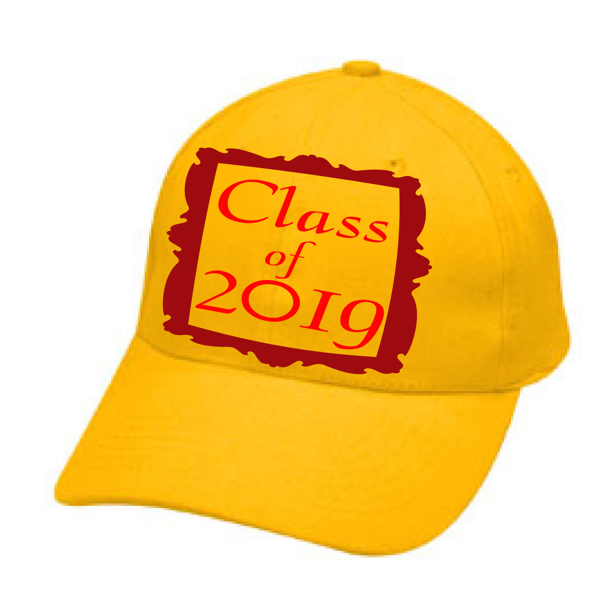 0ebc0ac9be999 Yellow hat class of 2019 framed cap adjustable backing hat men and women  hats