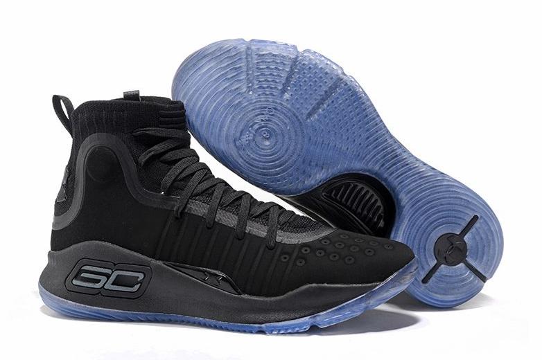 Cheap UA Curry 4 High Tops Triple Black For Sale 2017 Mens Basketball Shoe  size US7-12 5c307fc59