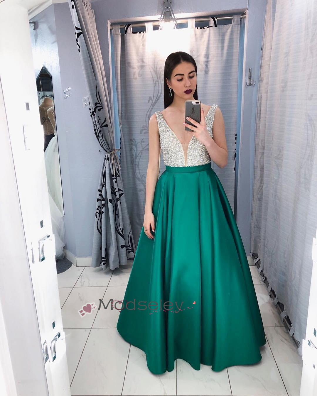 c09c974cee2 Elegant Emerald Green Long Prom Dress · modseleystore · Online Store ...