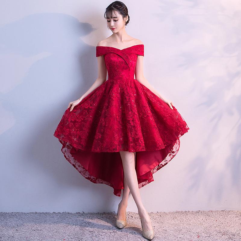 e2e5ded2f9 Cute v neck lace short prom dress