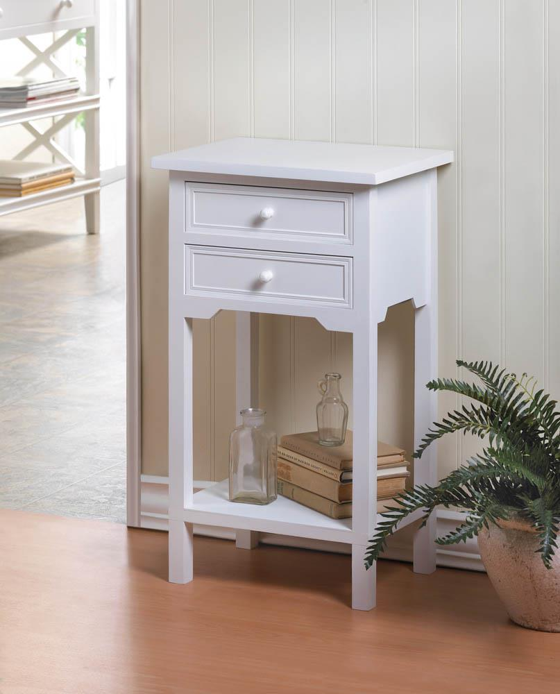 - Cottage White Accent Table Sold By The GCHS Shoppe On Storenvy