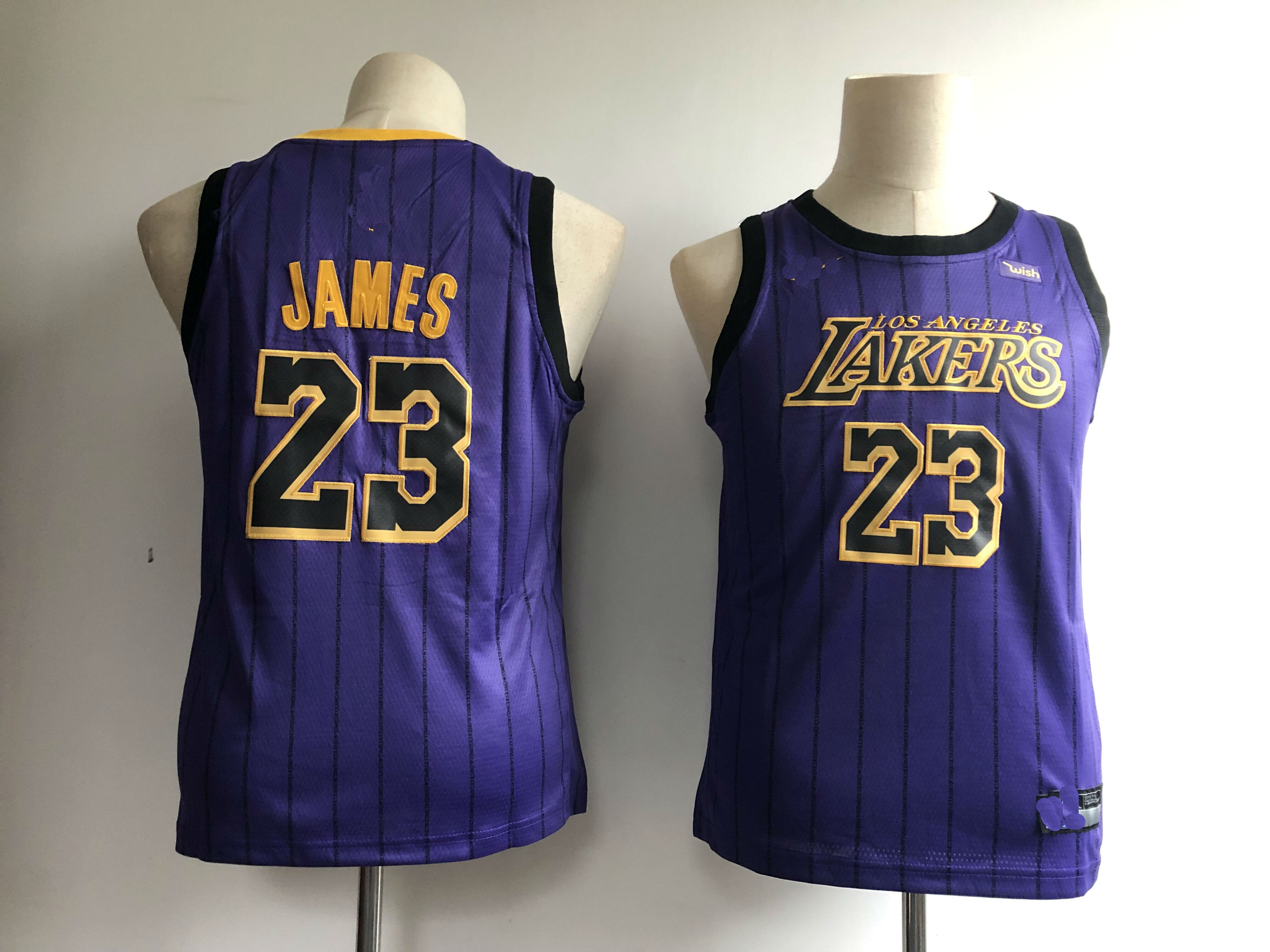 3c75d13118dad 2019 Youth Los Angeles Lakers  23 LeBron James Basketball Jersey-City  Edition