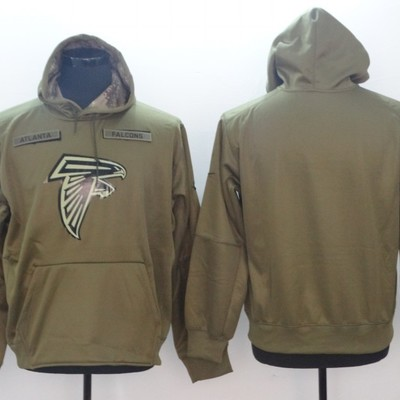 8139c6e8e98 Mens atlanta falcons salute to service sideline therma performance pullover  hoodie – olive