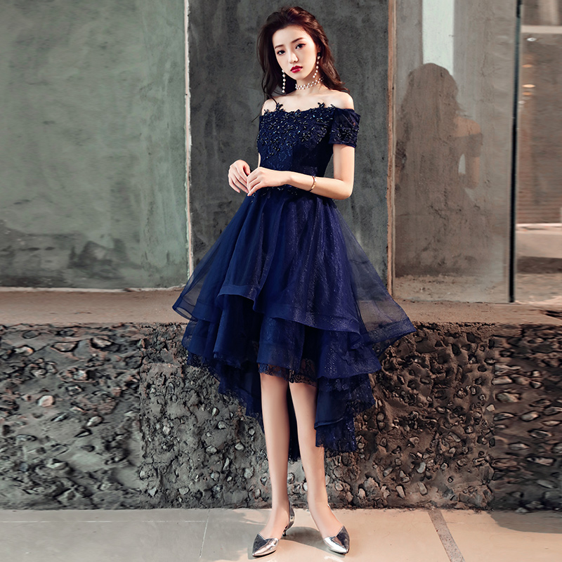 1e86b667703 Cute tulle lace off shoulder short prom dress, homecoming dress ...