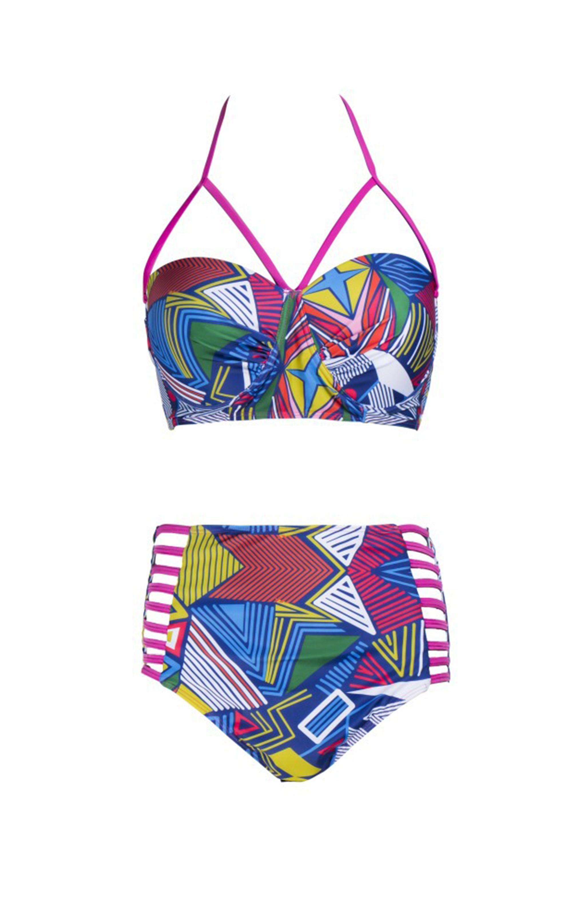 3ceace5c40f Plus Size Swimwear High Waisted Bikini Swimsuits for Big Busts Girls -  Thumbnail 1 ...