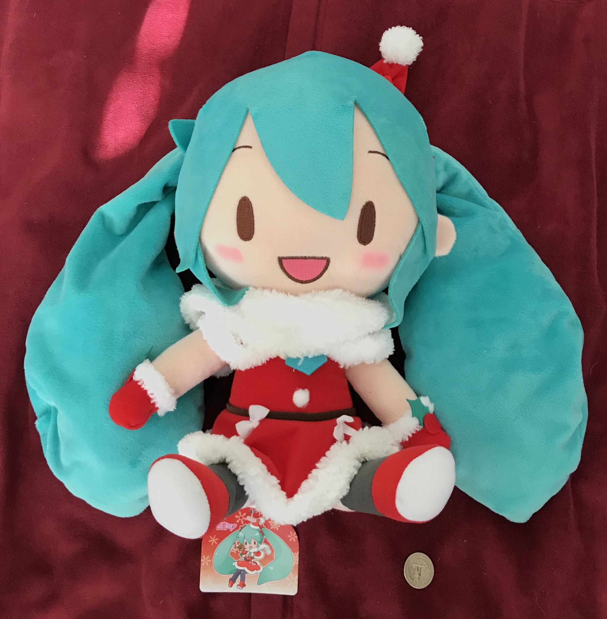 Hatsune Miku Christmas.Hatsune Miku Christmas Plush Sold By The Catcher Files