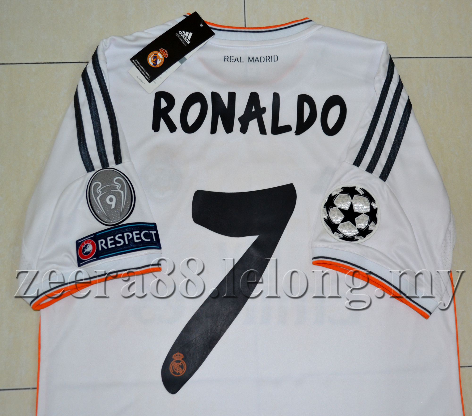 check out dbd62 7a588 Real Madrid Home Jersey RONALDO UEFA 2013/2014 Original Quality Official  Kit 7 pc