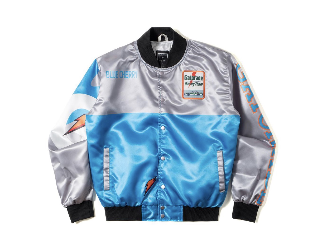 b5ff9e21cf3a29 GATORADE GATORACING TWO TONE SATIN RACING JACKET WHITE GREEN · ALL ...