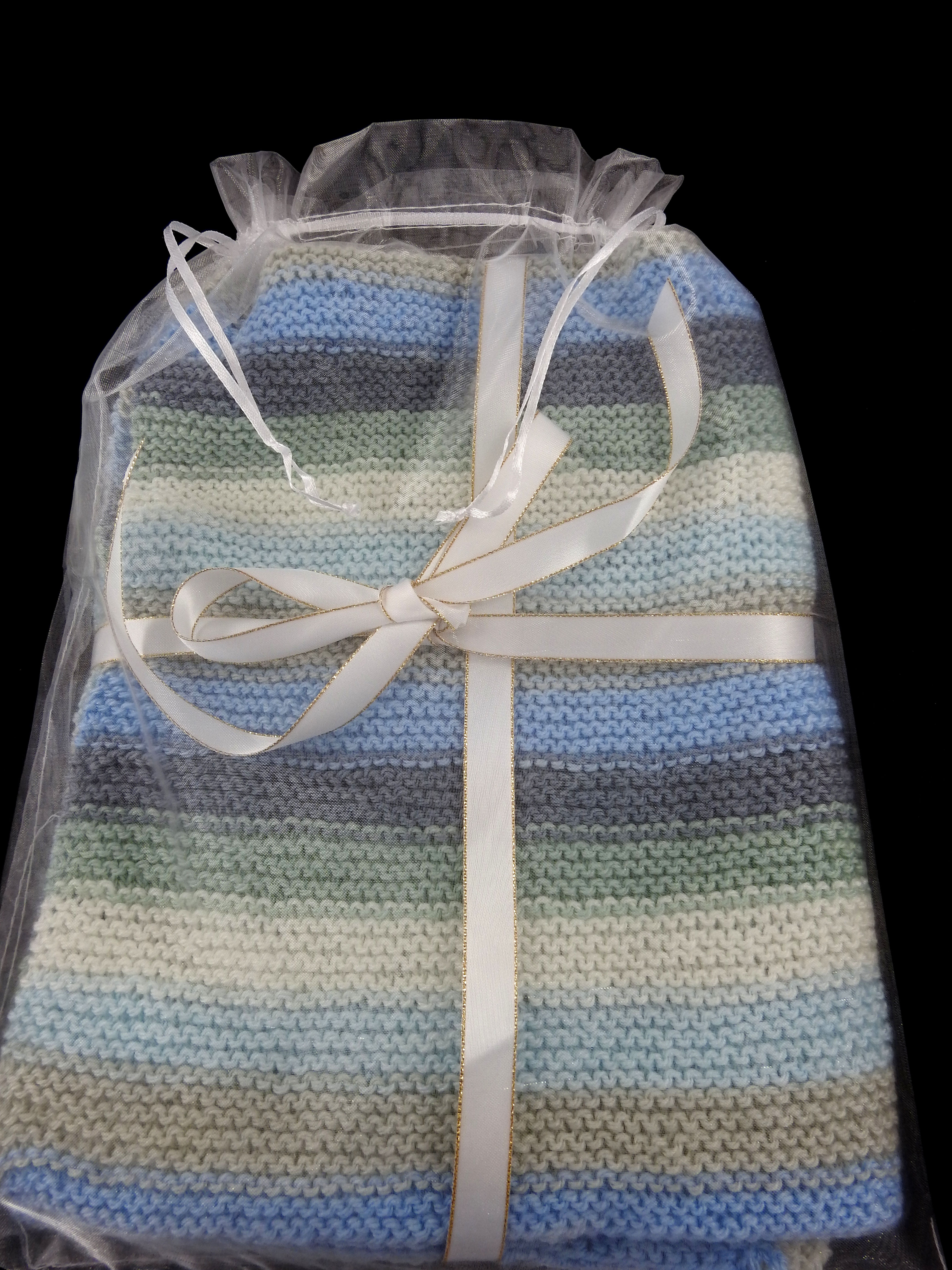 Hand Knitted Multicoloured Baby Blanket - FREE SHIPPING from Dreams Of  Avalon
