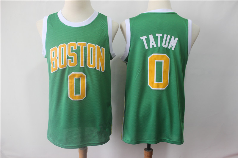 198224d81 Men s Boston Celtics 0 Jayson Tatum Green 2018 19 Swingman Jersey Earned  Edition