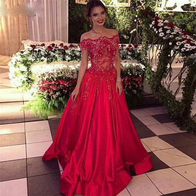 97a0e115ab Off The Shoulder Prom Dress, Beads Sequins Formal Evening Dresses, Cheap  Popular Prom Dress 2019,Evening Dress,Custom Made from Butterfly Love