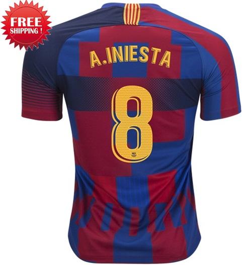 ff575e6a4 Andres Iniesta  8 Jersey Fc Barcelona Men 2018 2019 Shirt Blue
