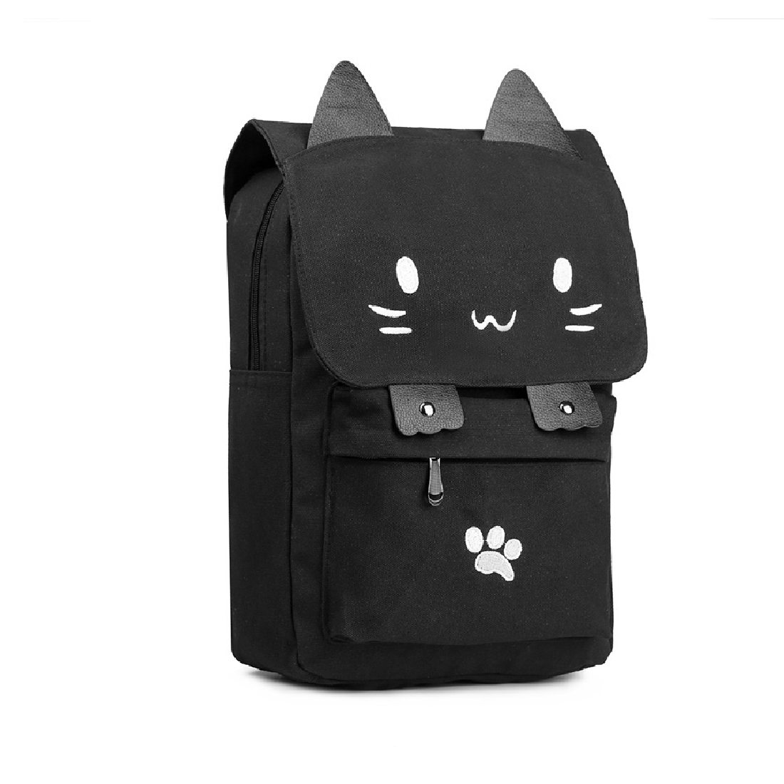 1cb31968d5 Backpack Canvas School Casual Bag Cute Cat Cartoon Embroidery Black Teenage  Girls Multi Colors Fashion Backpacks