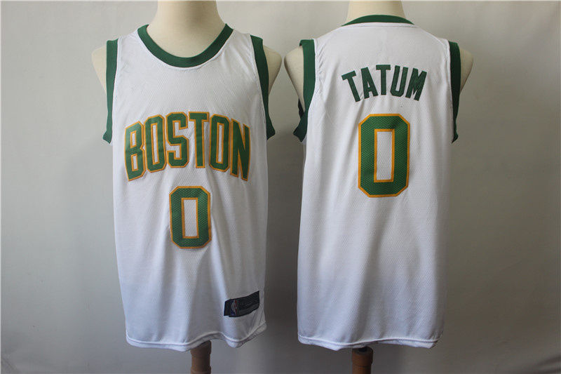 100% authentic c30a2 4f8c0 Men's Boston Celtics Jayson Tatum White 2018/19 Swingman Jersey – City  Edition from haosjers