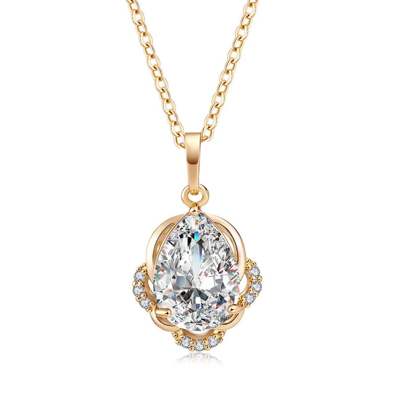 ab567cef2 Fashion Chic Big Zircon Necklace Pendant Necklaces Valentine's Day ...