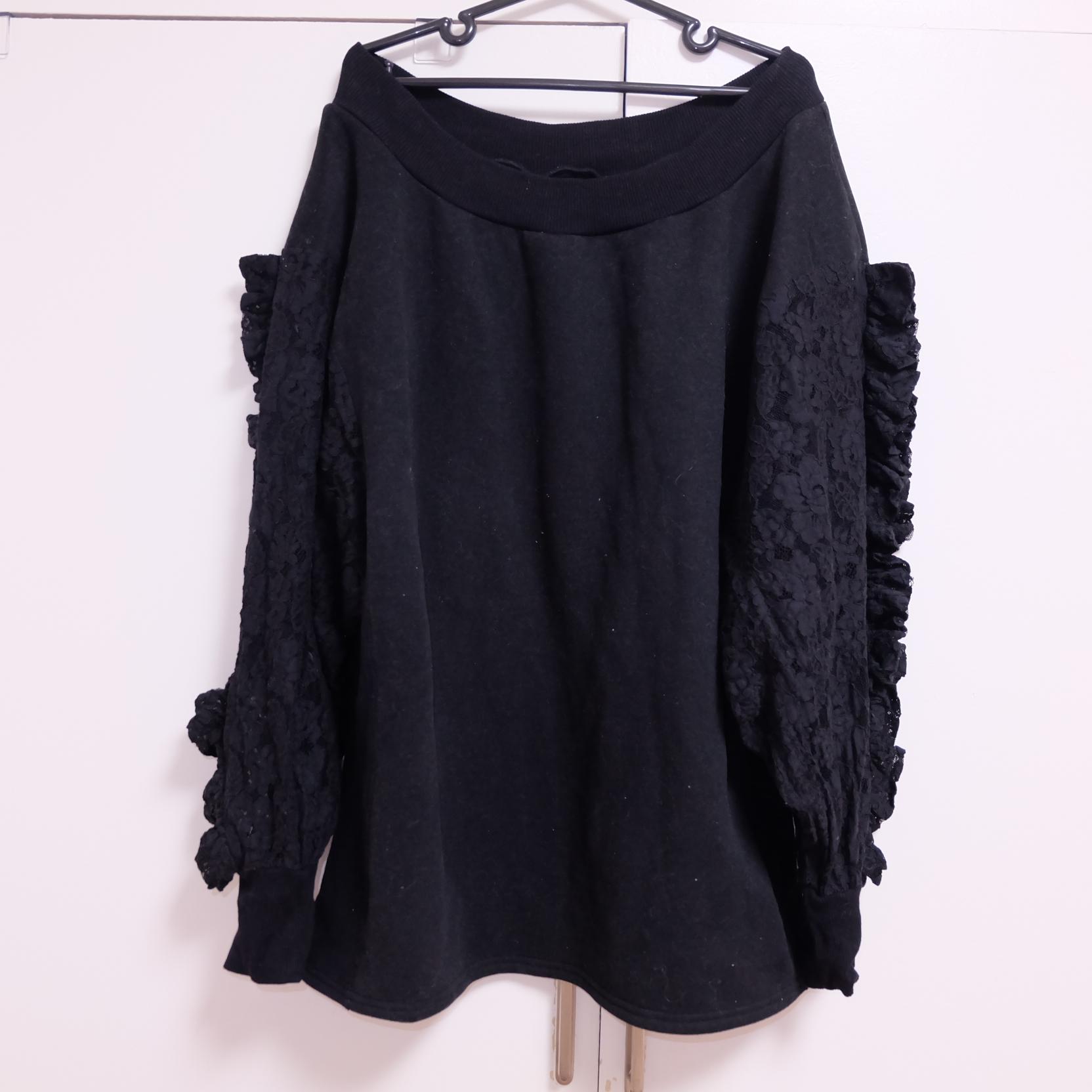 1362af9ecc7 Gothic Shoulderless Lace Sweater  38.00