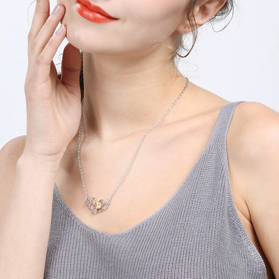 Charm fashion silver necklaces for women girl heart honeycomb bee animal  pendant choker necklace jewelry party 26ceacf3b